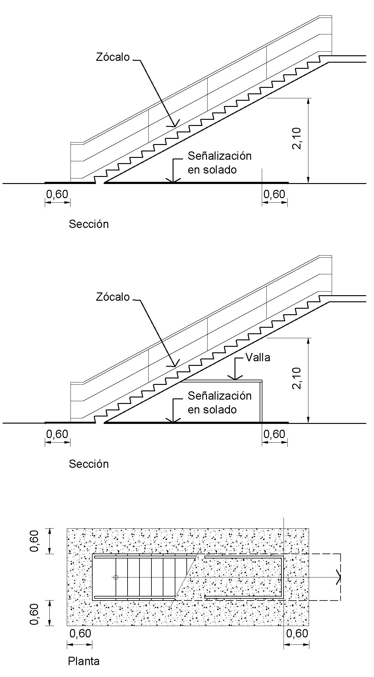 Baño Bajo Escalera Medidas:INDICACIONES CONSTRUCTIVAS — Normativa