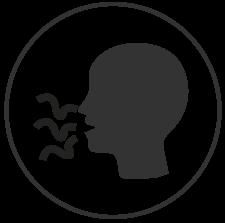Icono perdida gusto olfato