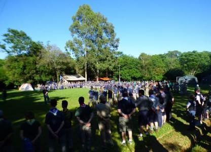 Cierre del Encuentro de Integración Scout