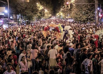 Carnavales en el Scalabrini Ortiz. Primer día