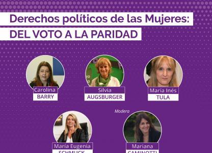 Charla: Derechos políticos de las mujeres, del voto a la paridad