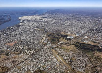 Plan urbano Rosario - Vista Aérea de la ciudad
