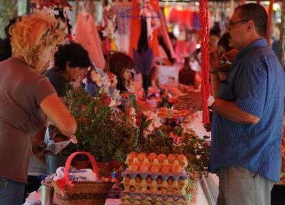 Feria en Plaza Sarmiento