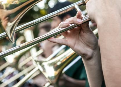 Muestra de instrumentos de la Banda de Villa Hortensia