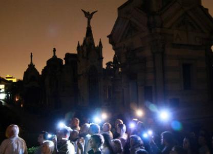 Visita guiada nocturna al Cementerio El Salvador
