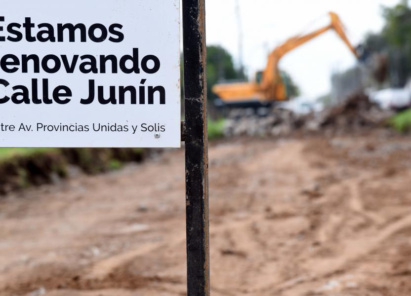 obras calle junin