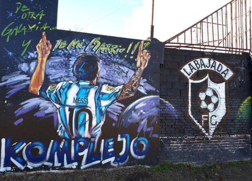 Murales Messi en Distrito Sur
