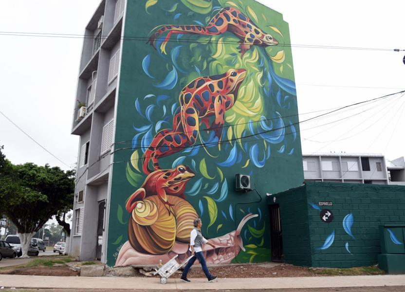 Murales en Rouillón y Segui