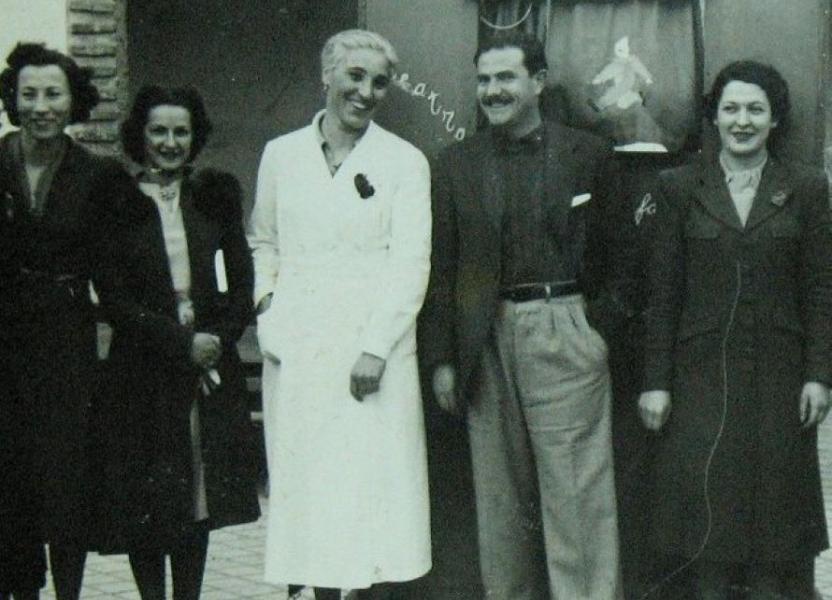 Hermanas Olga y Leticia Cossettini en Escuela Serena