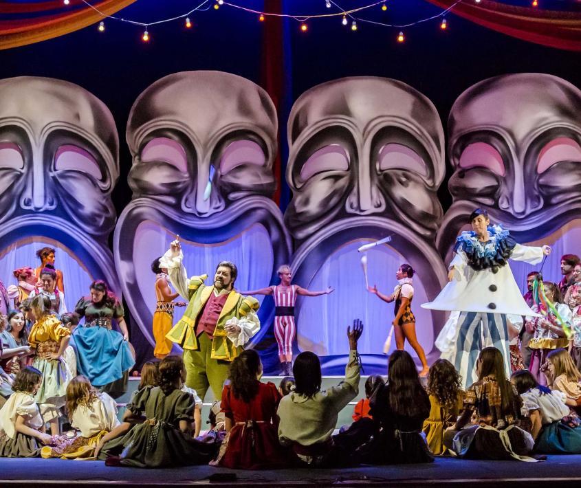 Presentación de la Ópera I Pagliacci en el Anfiteatro