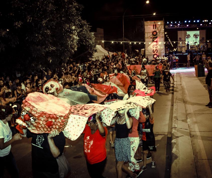 Baile de carnaval en Barrio Godoy