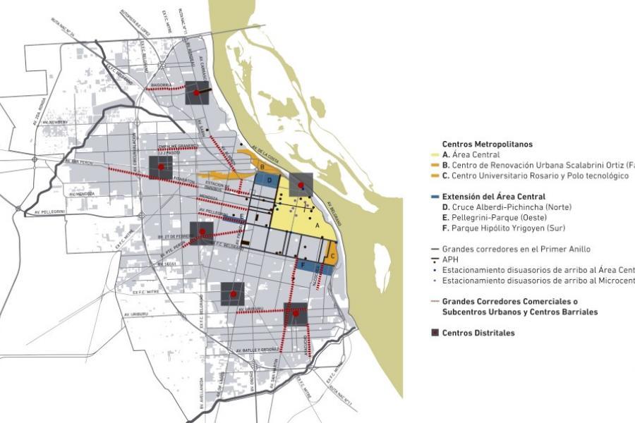 Eje 1: Las centralidades urbanas