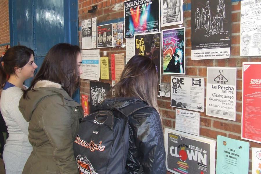 Orientación vocacional en los galpones de la juventud