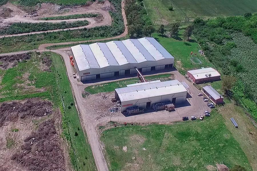 Vista aérea de la Planta de compostaje Bella Vista