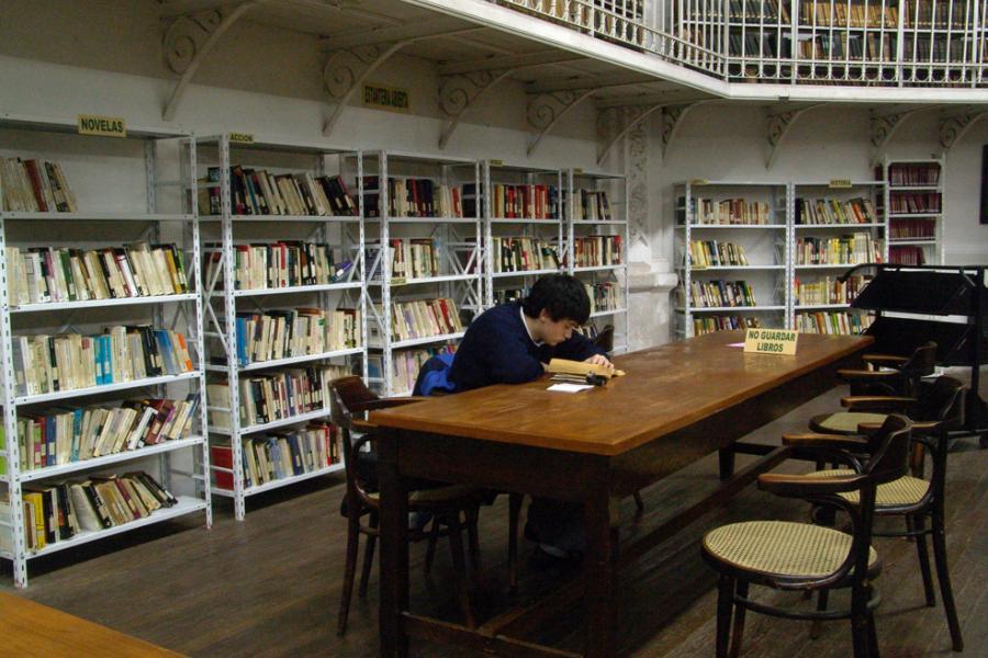 Sala de lectura de la Biblioteca Argentina