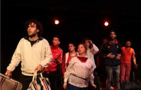 Actores y actrices en escena