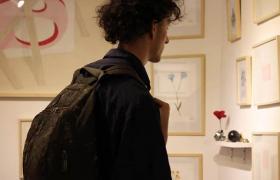 Persona mirando galería