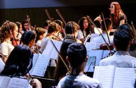 Fotografía de la Escuela Orquesta Barrio Ludueña