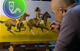Pintura tradicional básica en óleo