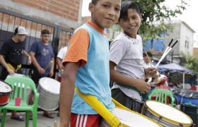 Taller de Percusión en Alas para Crecer