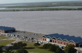 vista aerea de la franja del río