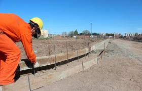 Obras en barrio Polledo