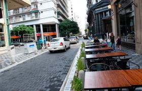 Calle Sarmiento y Santa Fe