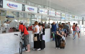 Boleterías de la Terminal de Ómnibus