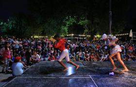 Baile de Carnaval en barrio Alvear
