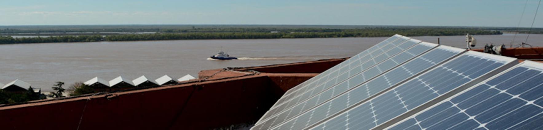 paneles solares del Palacio de Los Leones