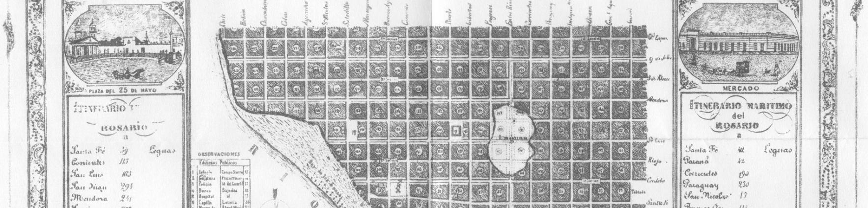 Rosario mapa antiguo