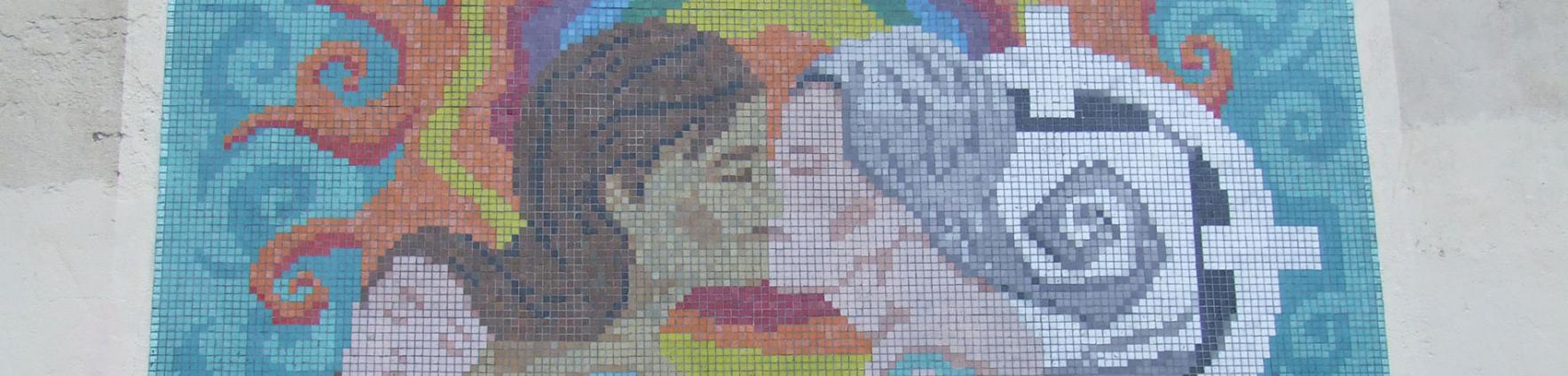 Mural Rosario libre de lesbofobia