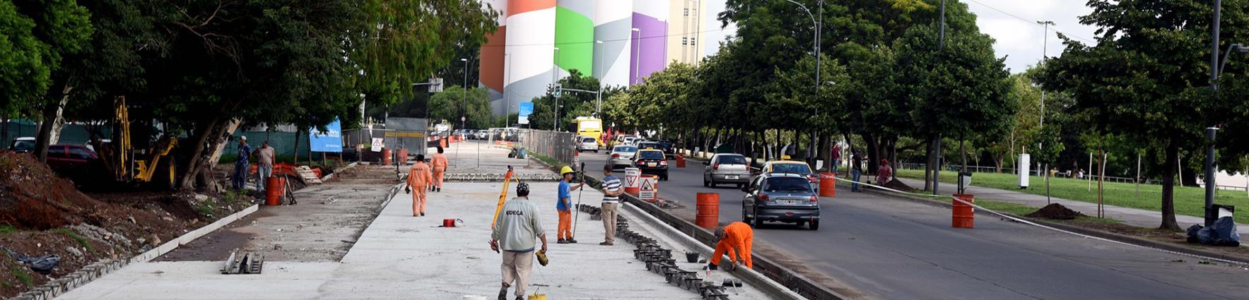 Avance de obras de la avenida de la Costa