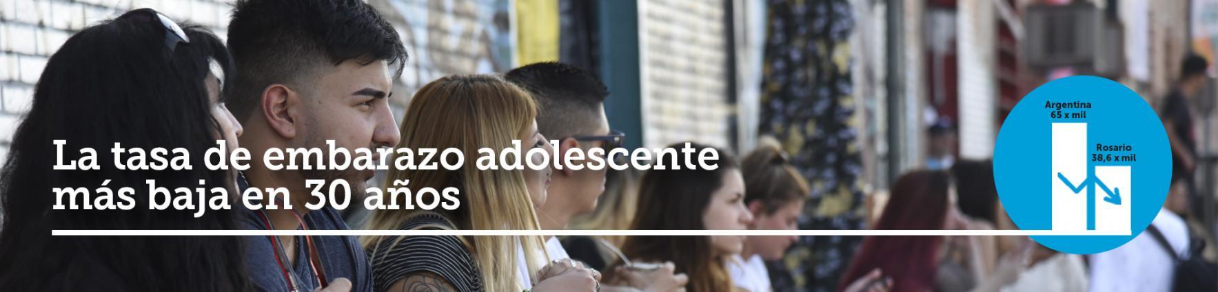 Baja en los embarazos de adolescentes