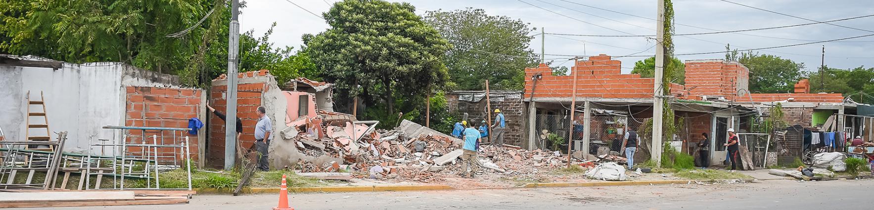 Trabajos de demolición en Villa Banana