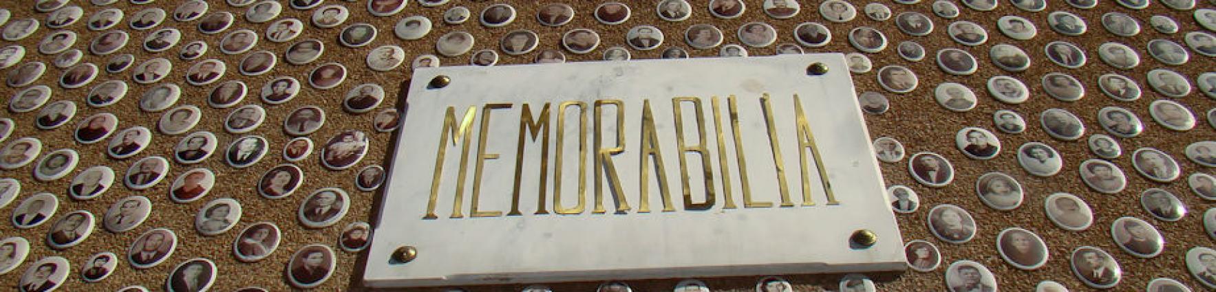 Placa de memorabilia